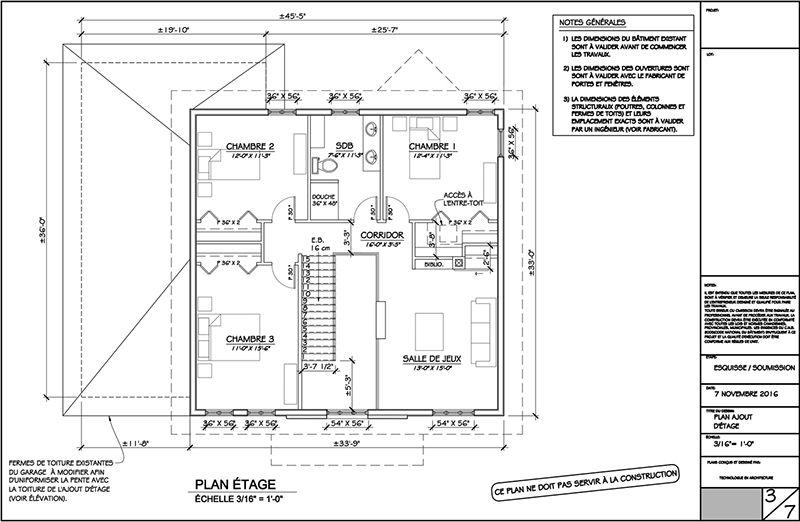 Exemple de plans pour ajout du0027étage (page 3) 3- plan agrandissement