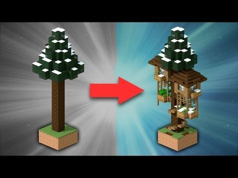 How To Build A Spruce Treehouse Minecraft Youtube Creaciones Minecraft Construcciones Minecraft Mansion De Minecraft