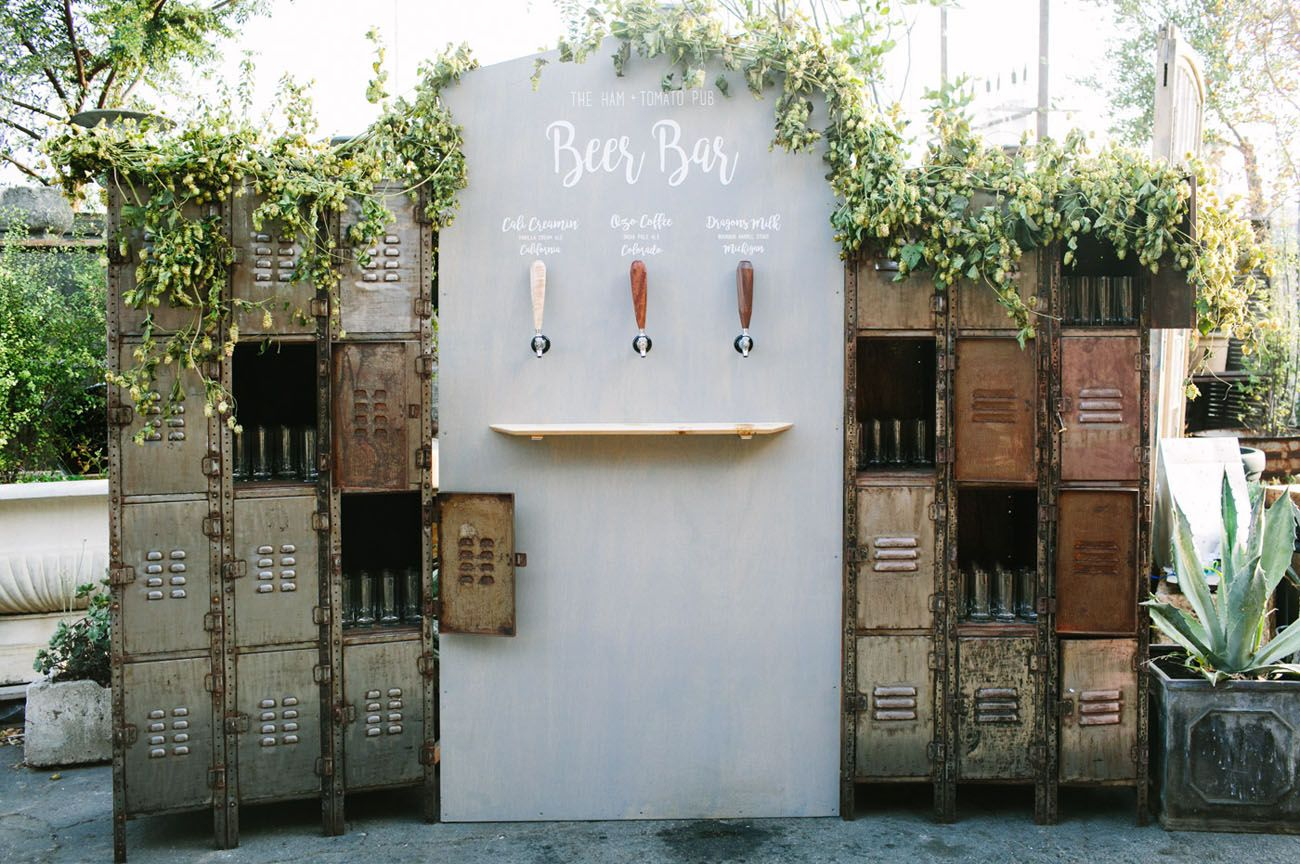 Have your very own beer bar at your wedding - pro wedding invites