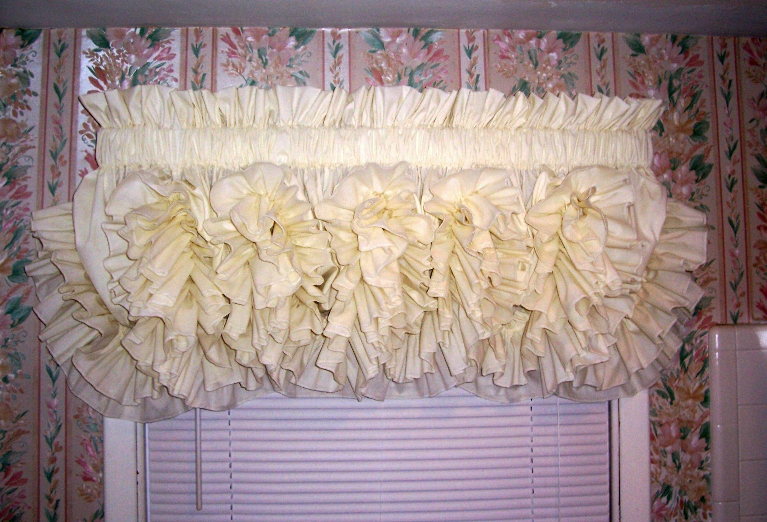 Delores Ruffled Curtains Beautiful Country Ruffled