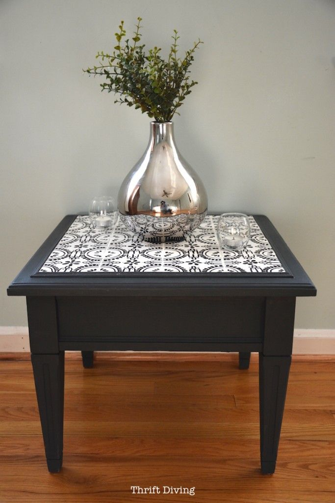 How To Tile A Table Top With Your Own Ceramic Tiles Diy Table Top Tiled Coffee Table Diy End Tables