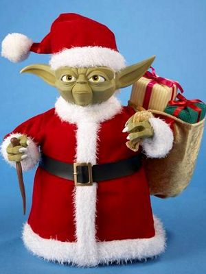 "0e0b88d6856cb Santa Yoda  ""A ten inch figurine for the one in your life who says  Christmas without Star Wars is simply not right. The connection is more  than just a ..."