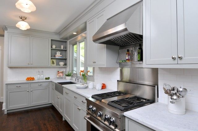 Gray Painted Kitchen