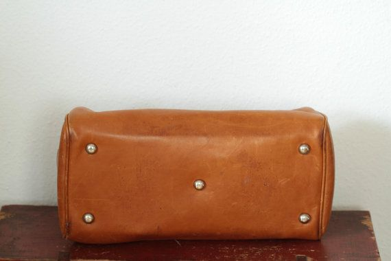 Vegetable tanned leather Dr.bag by ANTIKBAZAR on Etsy