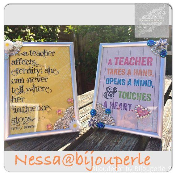 Teacher frame by Bijouperleboutique on Etsy