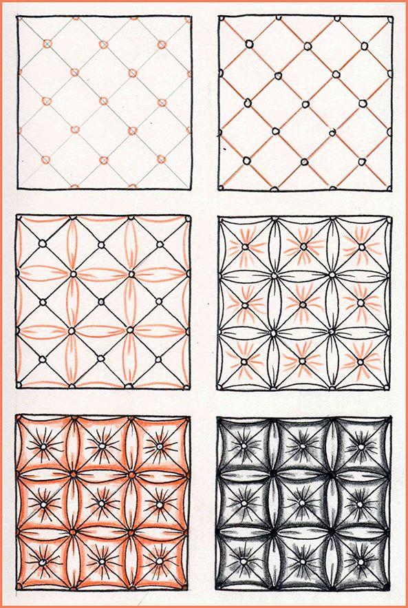 Afbeeldingsresultaat voor zentangle patronen stap voor stap ...