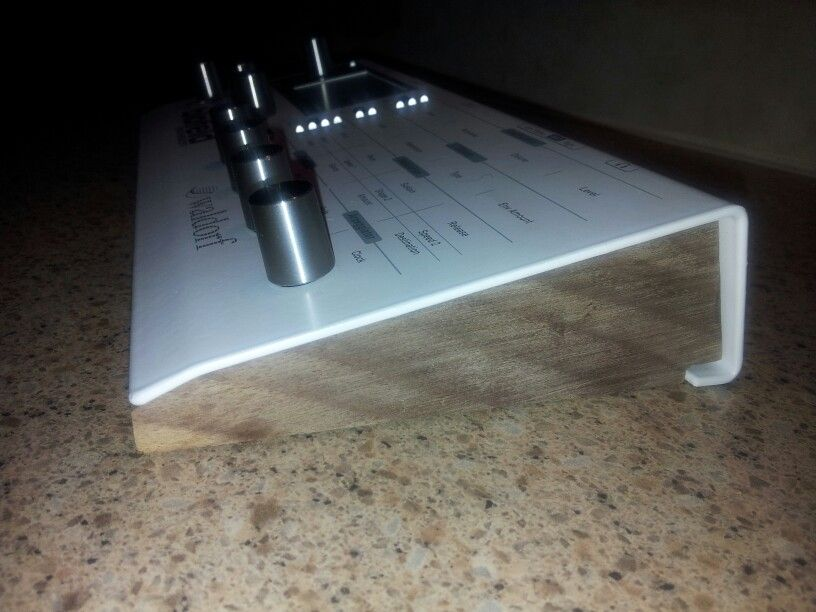 Shot 2 of my Waldorf Blofeld with custom wood sides.