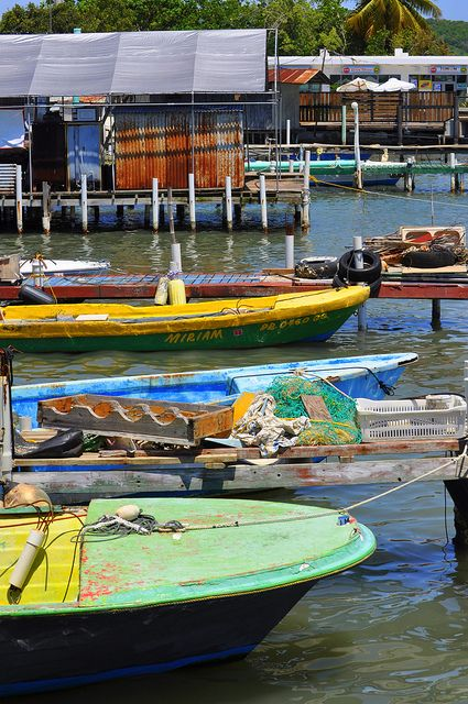 Wooden work boats...