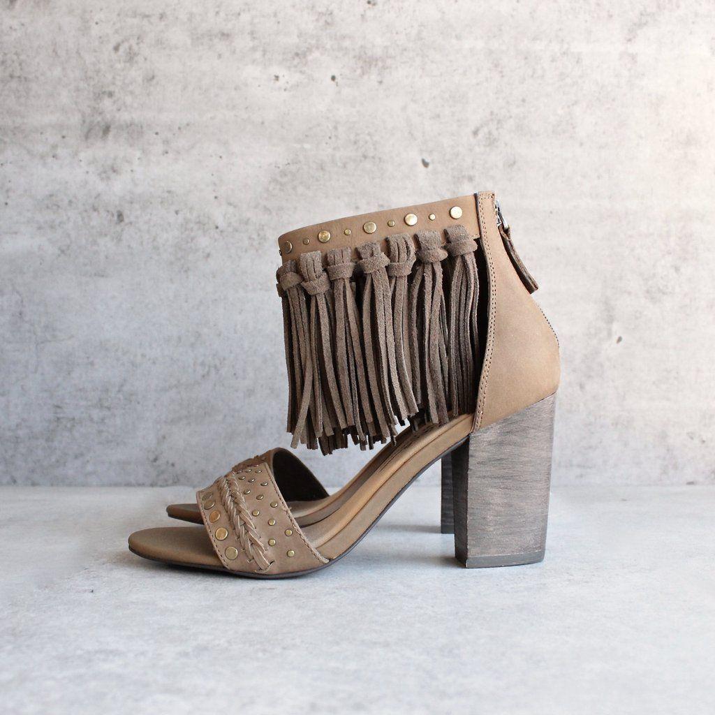 57222f0ac429 Sbicca vintage collection - palooza fringe heels - khaki
