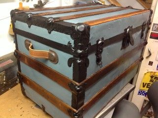 Restored antique trunk | trunks | Pinterest | Steamer trunk, Trunk ...