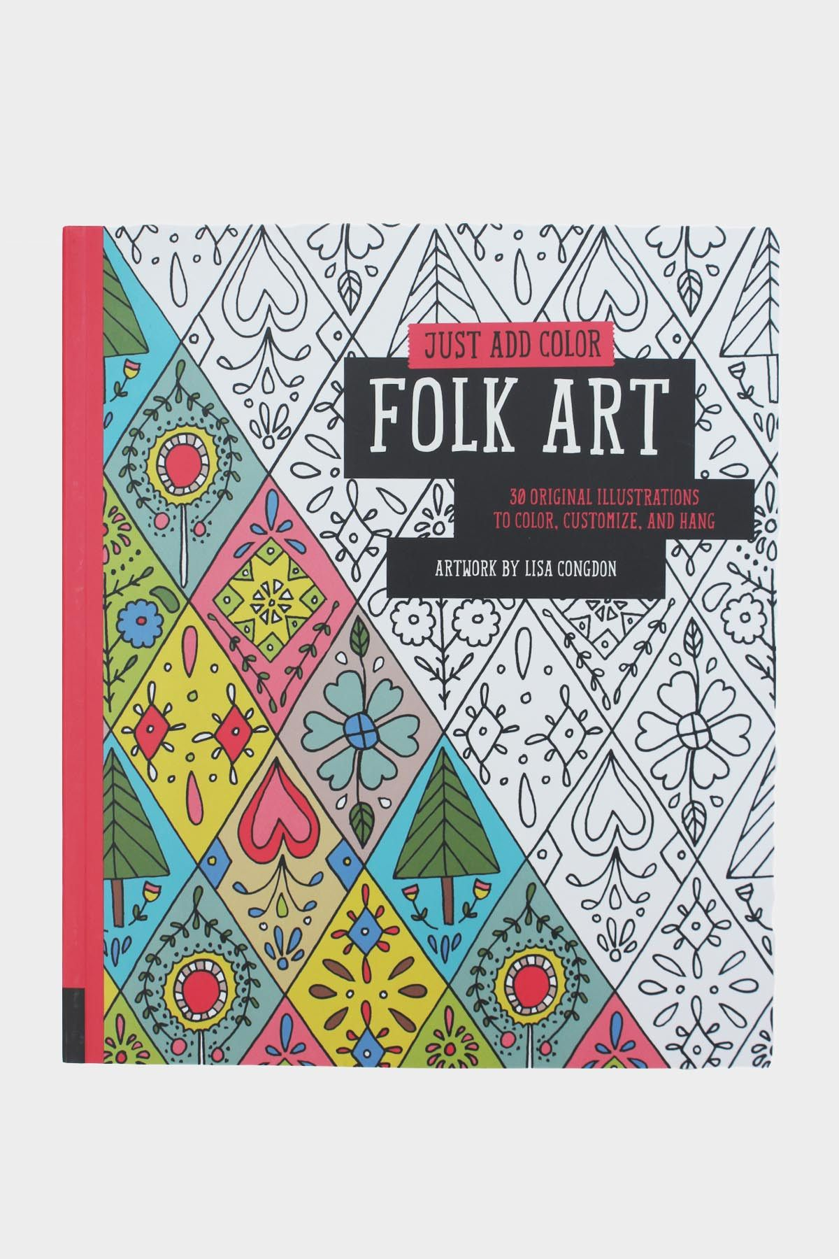 How to color grown up coloring books - Folk Art Coloring Book Free Coloringadult