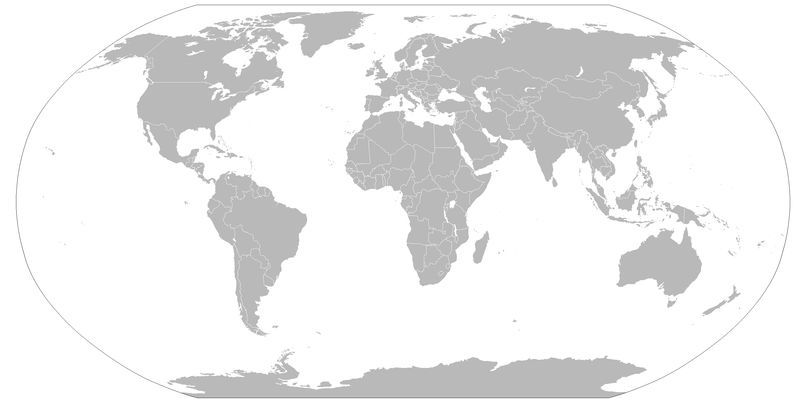 Can You Locate 15 Countries On Unmarked World Maps Raznoe