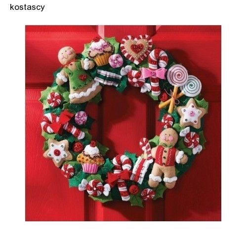 Christmas-Wheath-Candy-Cookies-Outdoor-Door-Tree-Decoration-Holidays-Gift-Home