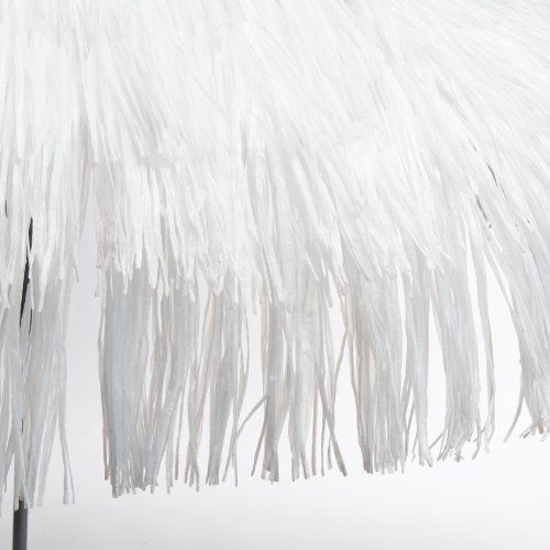 Jan Kurtz Sonnenschirm jan kurtz 200 cm sonnenschirm mit fransen weiss hawaii bastschirm