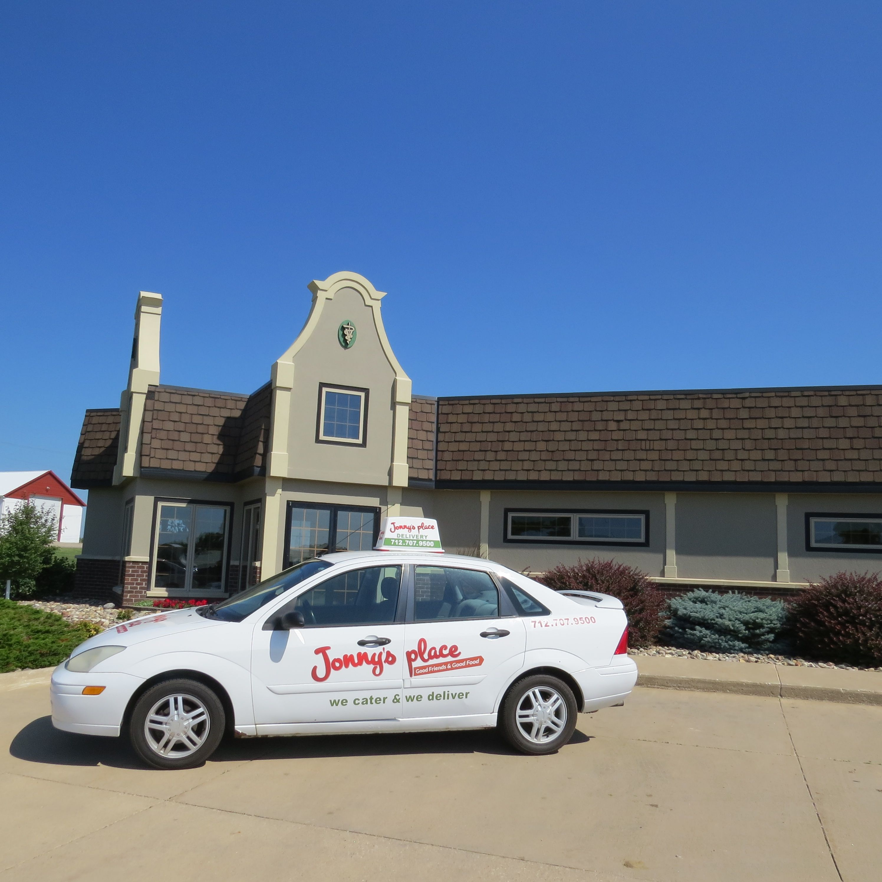 Orange City Veterinary Clinic Building Iowa Jonny's Place Car