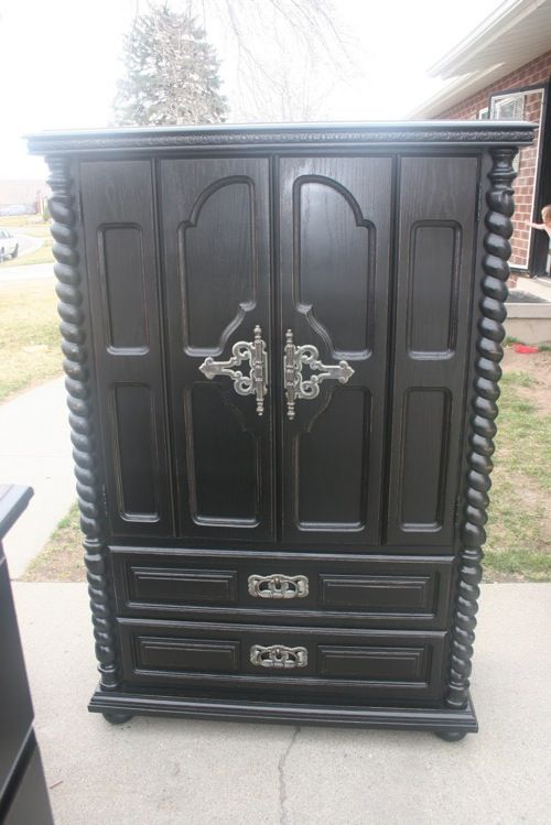 Sharp Chic 10 Sleek Black Armoire Designs Furniture