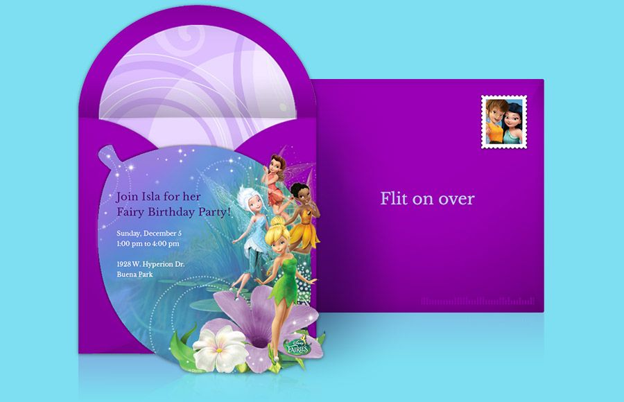 Customizable Free Disney Fairies Online Invitations Easy To Personalize And Send For A Birthday Party