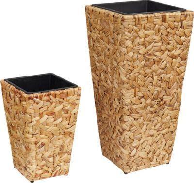 Gartenfreude Pflanzkübel Pflanzkübel mit Wasserhyazinthe 2er Set - garten lounge mobel holz