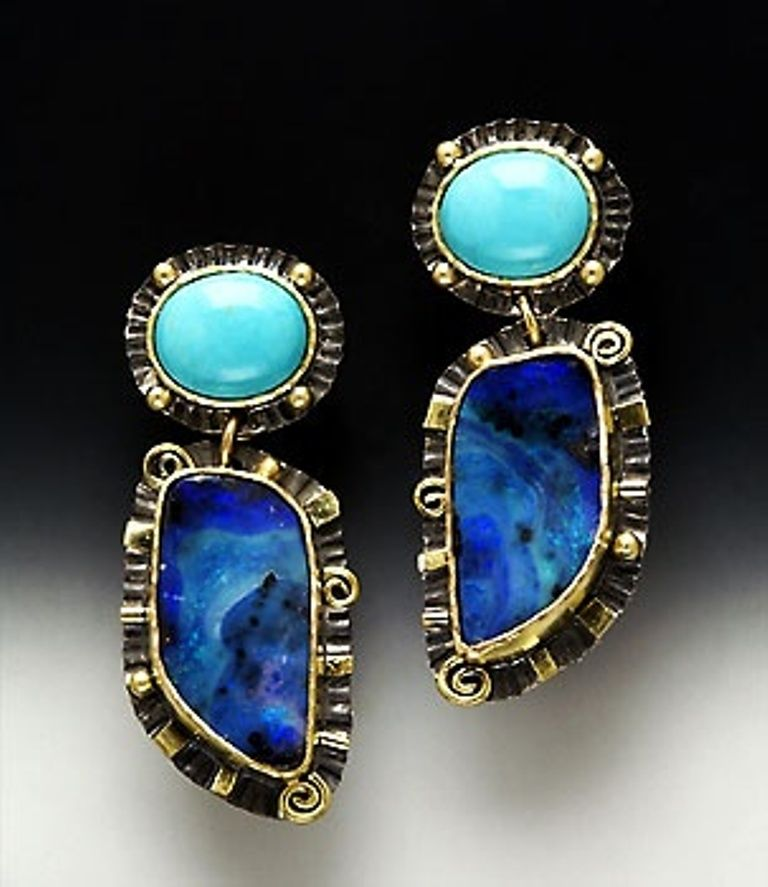 opal and turquoise