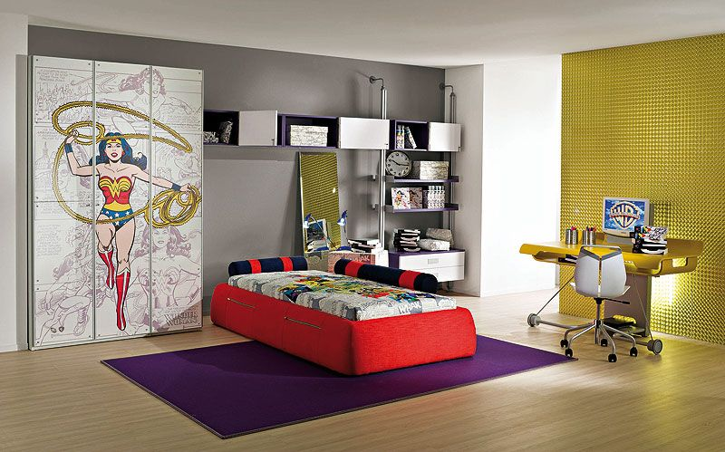 decorating tips that bring superheros to your home - Cool Themes For Bedrooms