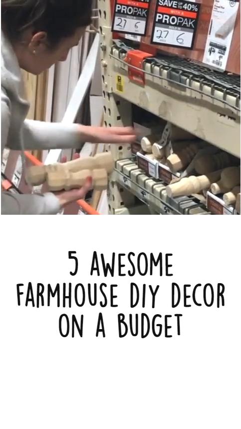 5 Awesome Farmhouse DIY Decor on a Budget