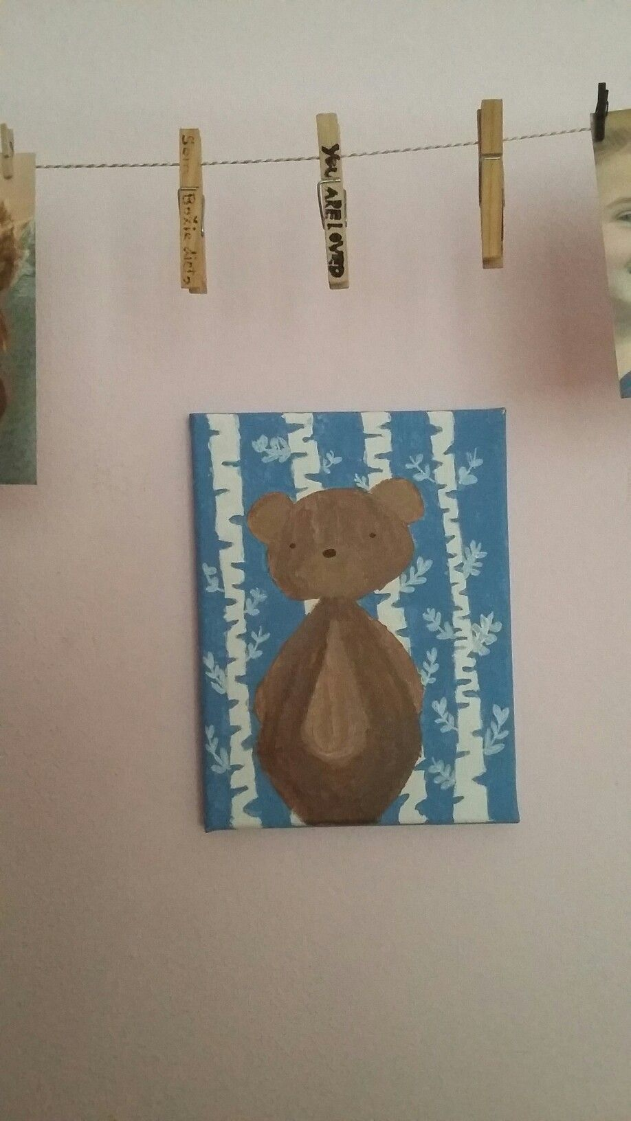A bear painting for my little nephew
