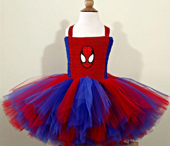 costume de fille de spiderman robe tutu de spiderman. Black Bedroom Furniture Sets. Home Design Ideas