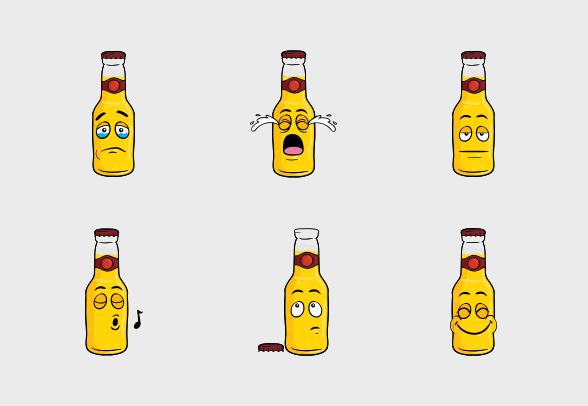 Beer Bottle Emoji Cartoons Icons By Vector Toons Cartoon Icons Beer Bottle Beer