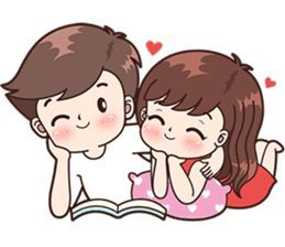 Boobib Cute Couples ( For Girl ) – LINE stickers | LINE STORE