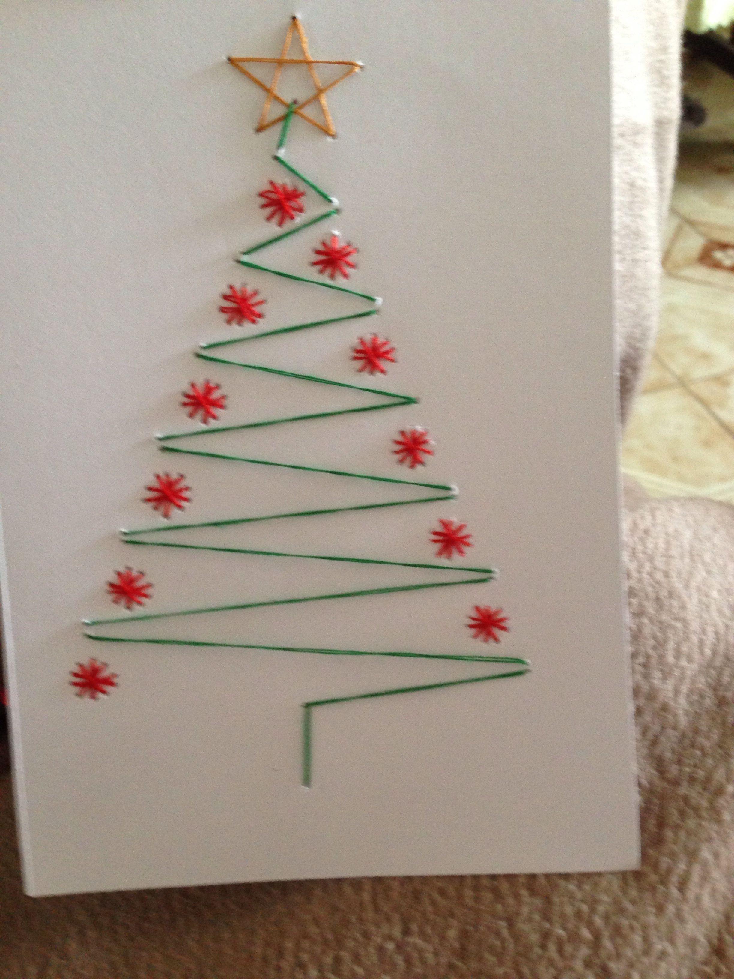 Handmade Christmas card Christmas prick