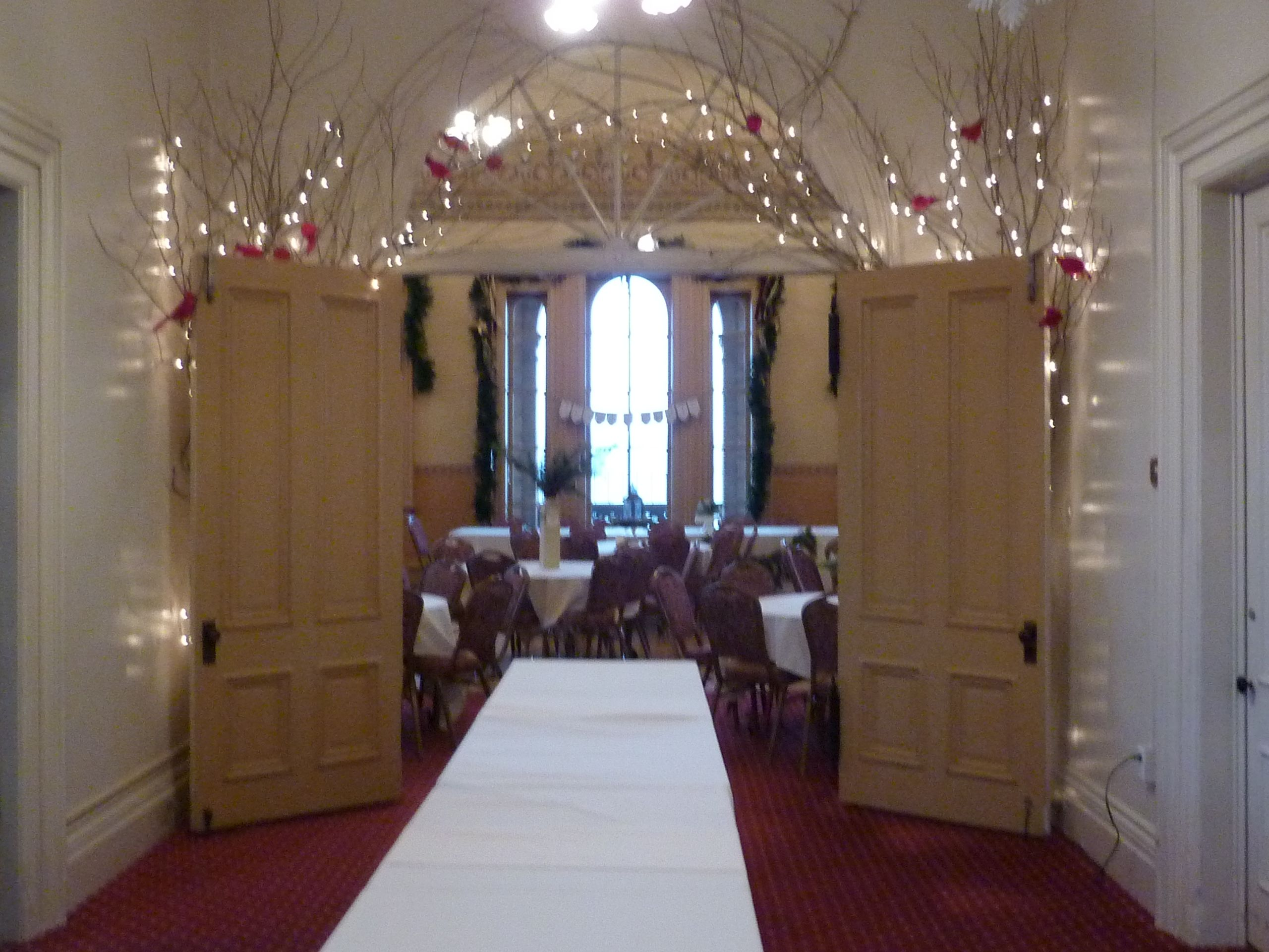 Winter decorations for a Christmas wedding at the Washington County ...
