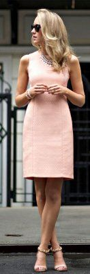 Shoes go a peach dress color with what A Woman's