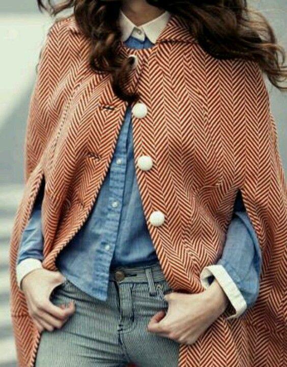 Button up cape