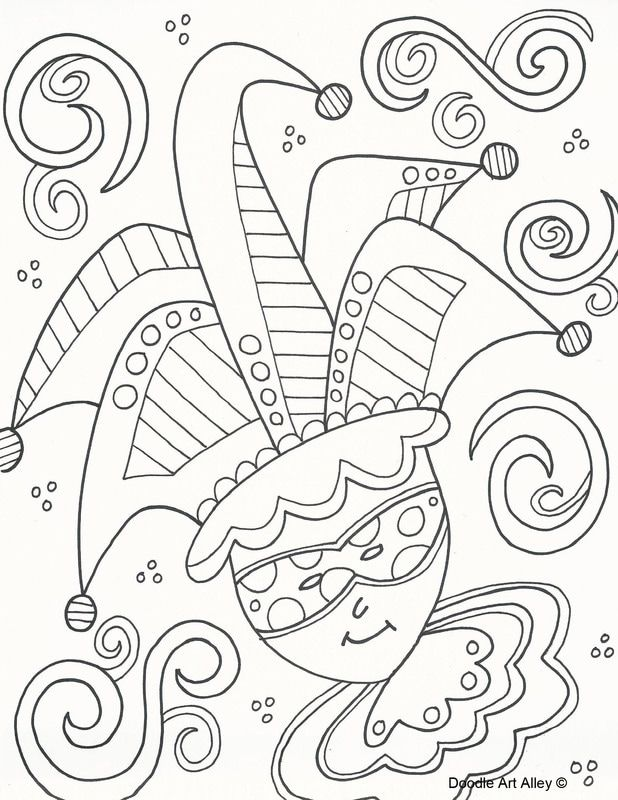 Picture   Doodlin\'-Coloring Pages   Pinterest   Mardi gras
