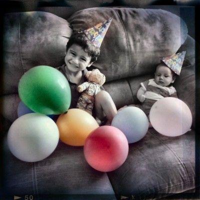 #HappyBirthday #Smile #ballons #colors  #mybabies #mobli #filter