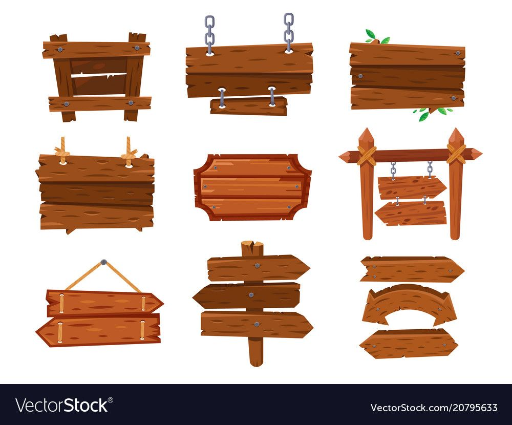 Empty Vintage Cartoon Wood Sign Board Or West Vector Image On Vectorstock Wooden Signs Wood Signs Vintage Cartoon