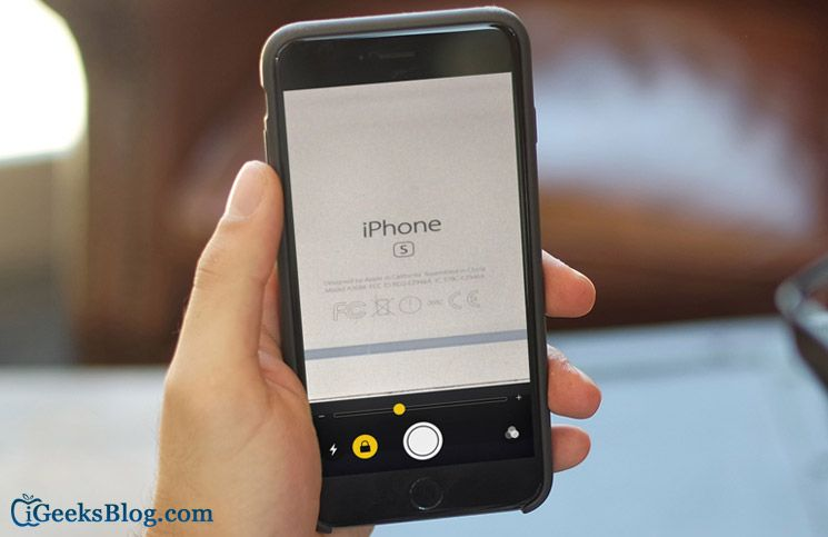 How to use iphone camera as a magnifier in ios 10 iphone