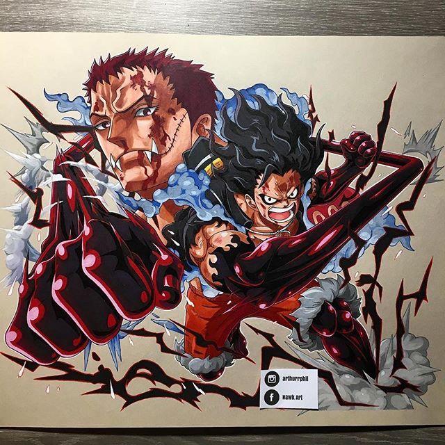 Repost arthurrphil Luffy vs Katakuri One piece treasure