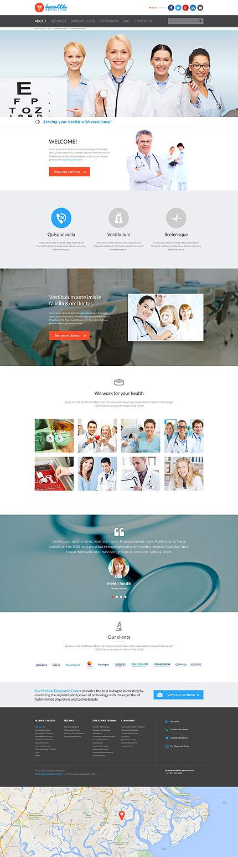 Responsive Website Vorlage für Medizin | Template