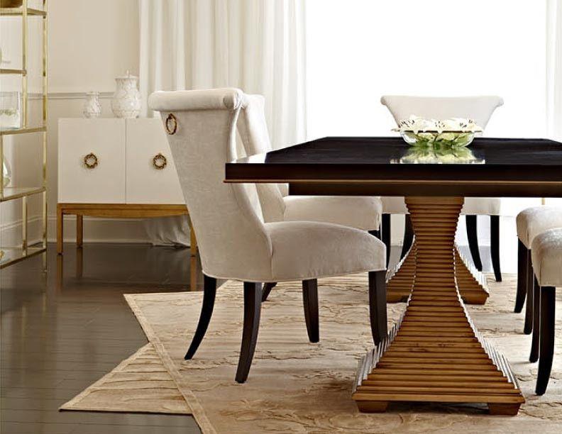 Jet Set Double Pedestal Table Bernhardt Furniture Double