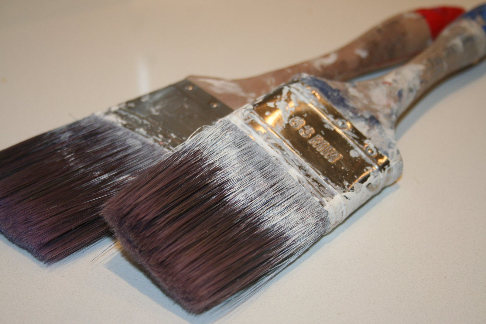 clean dried acrylic paint from brushes I discovered