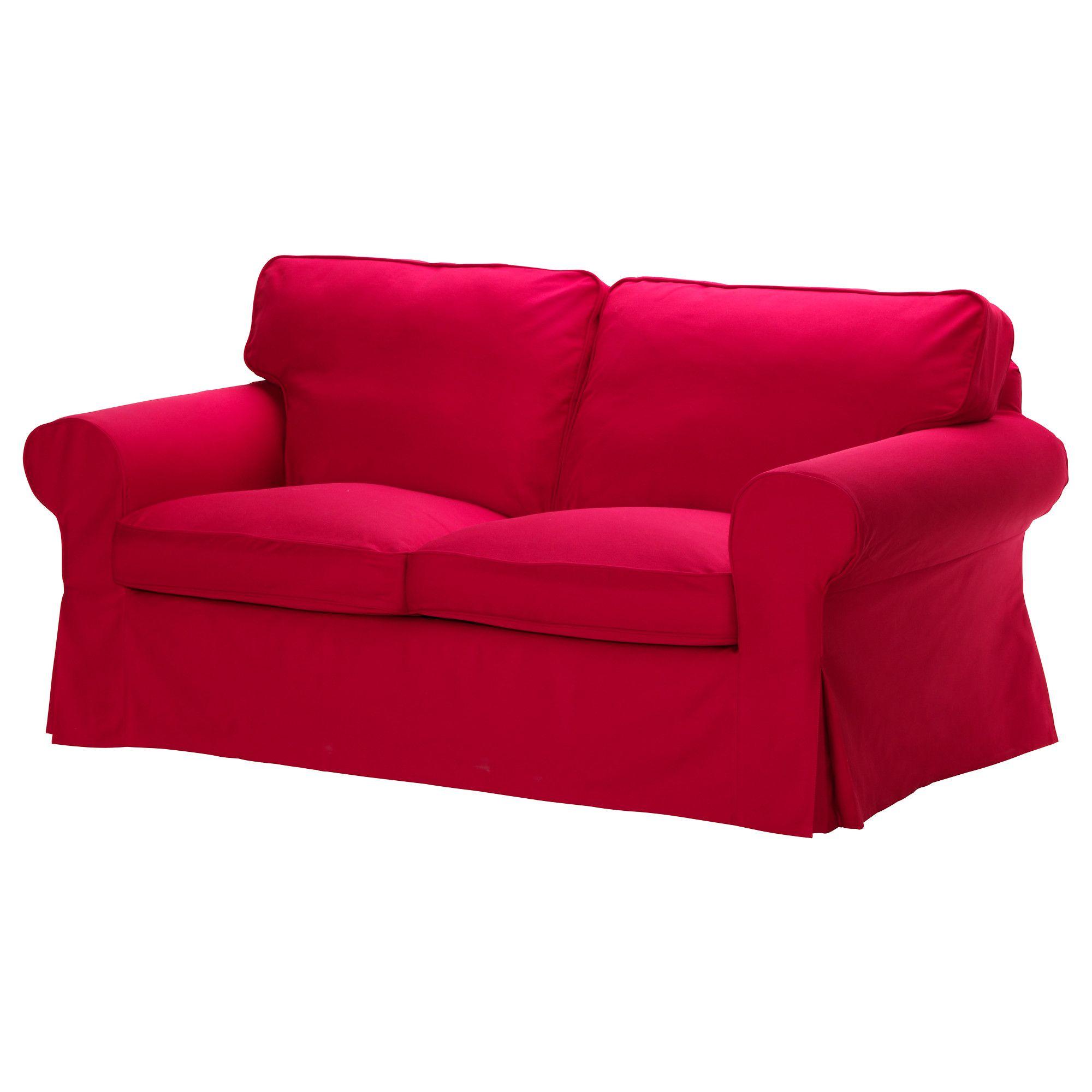 Ektorp Loveseat Cover Idemo Red Ikea So Roomy Ikea Sofa Ektorp Sofa Ikea Loveseat