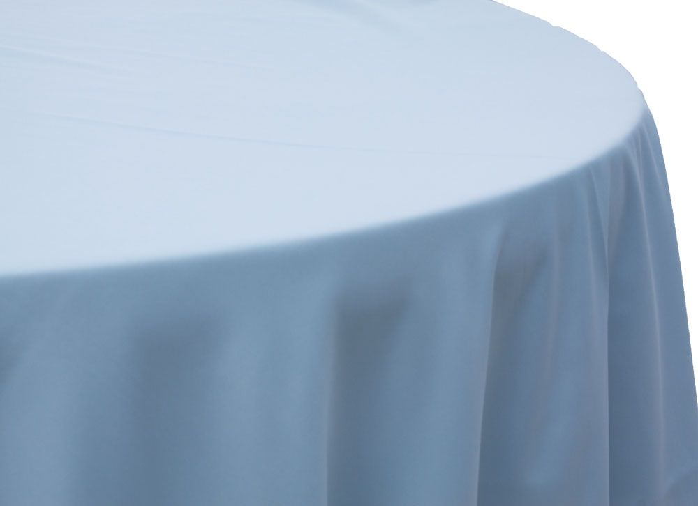 Round Polyester 132 Tablecloth Baby Blue Blue Tablecloth
