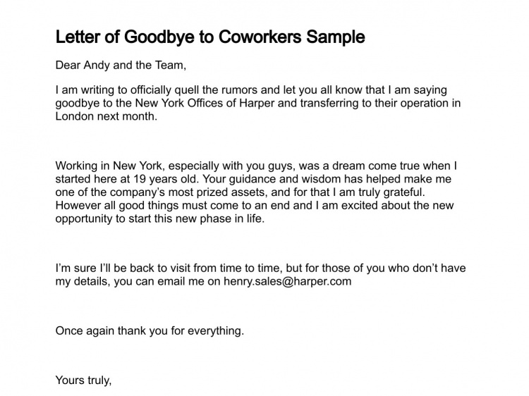 Farewell Email To Coworkers Farewell Email To Coworkers Cover Letter For Resume Job Cover Letter