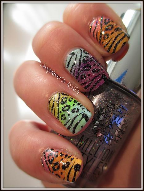 Animal Print over Various Rainbow Gradients w Sparkles