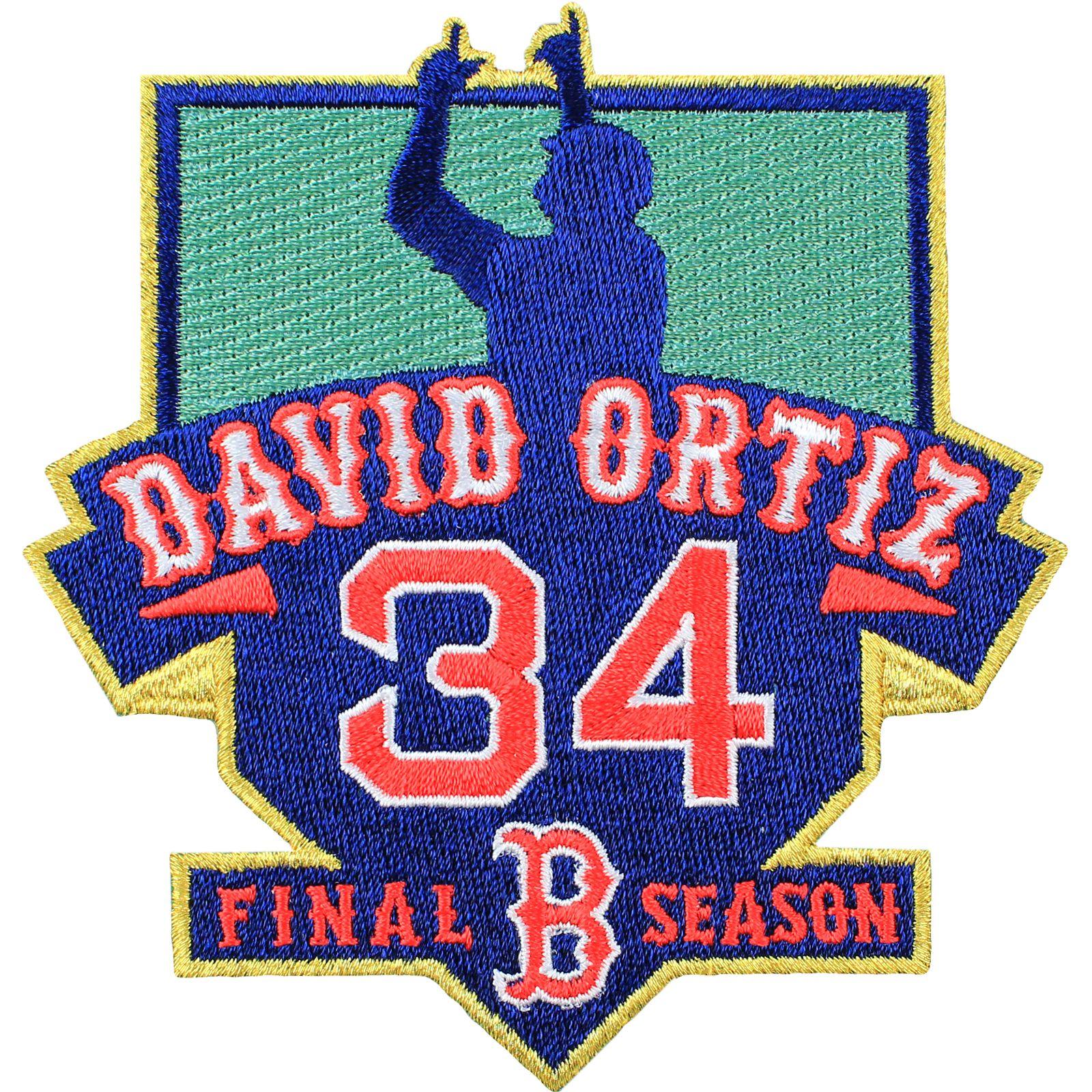 Boston red sox david ortiz 34 final season patch boston