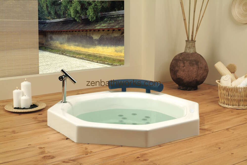 The extra deep Nagano bath - a true soaking tub with bench seat ...