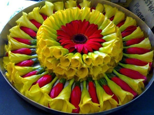 Flowers thali decoration aarti also pin by pinkeyy shah on flower pinterest rh