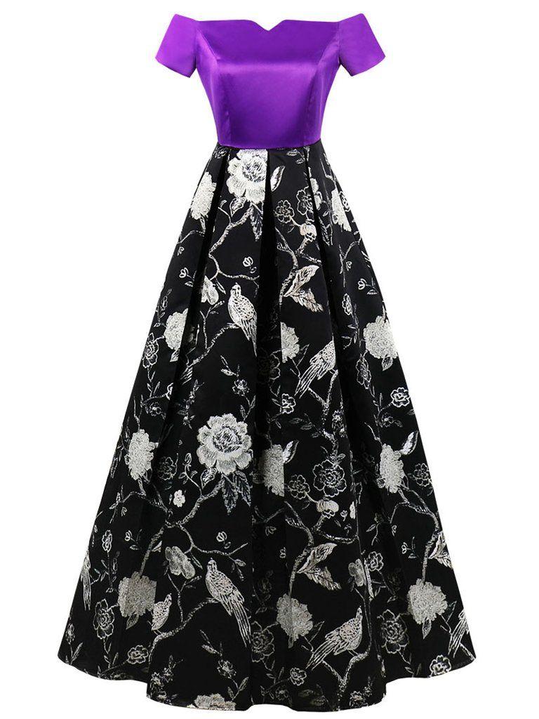 S off shoulder floral plus size dress wardrobe pinterest