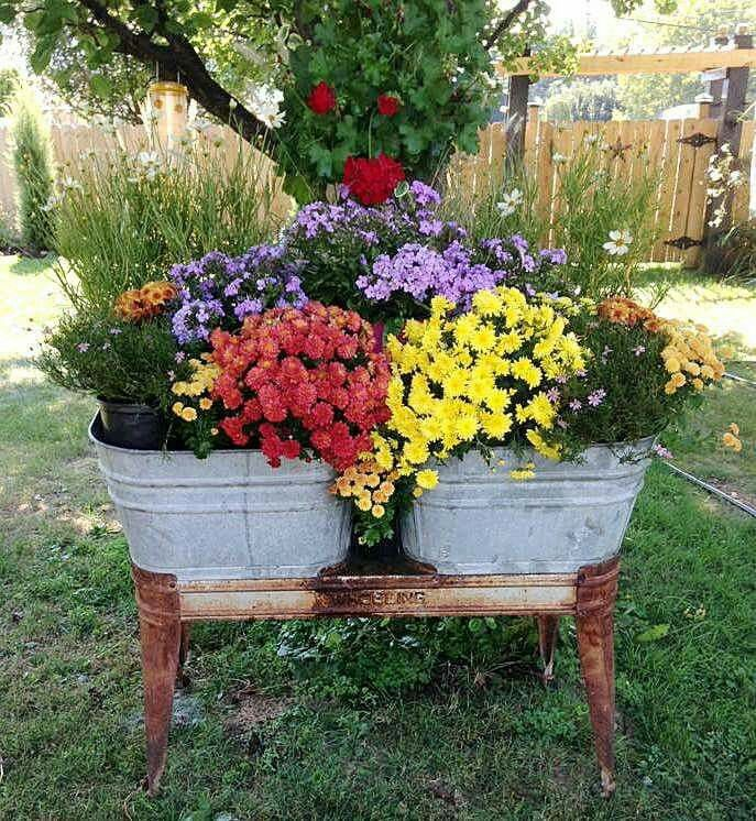 Garden Garden Containers Galvanized Buckets Decor Garden Junk